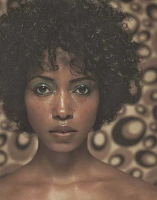 Nice Curly Short Hairstyles for Black Women