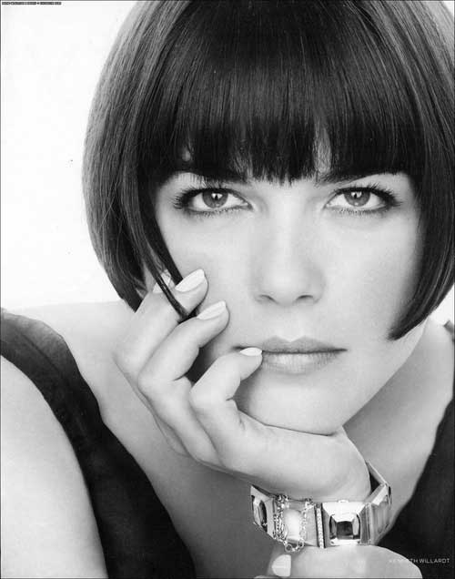 Short Hair with Straight Bangs-10