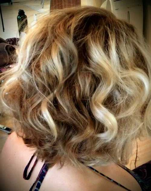 Blonde Balayage Short Hair-11