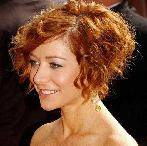 Curly Hairstyles for Short Hair-15