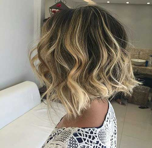 Blonde Balayage Short Hair-16