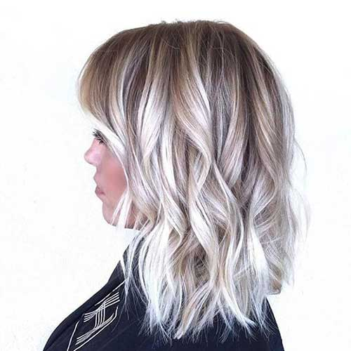 20 best blonde balayage short hair short hairstyles - Balayage blond blanc ...