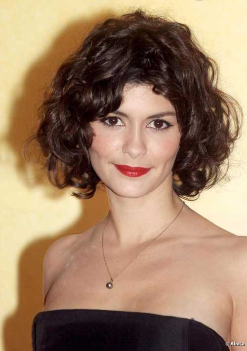 Curly Hairstyles for Short Hair-19
