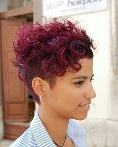 Curly Hairstyles for Short Hair-6