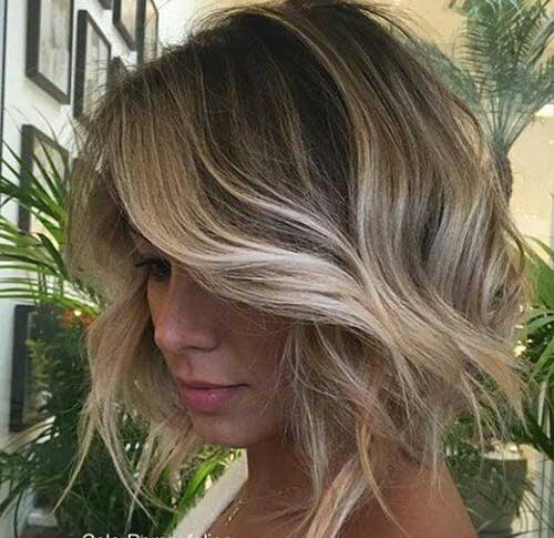Blonde Balayage Short Hair-7