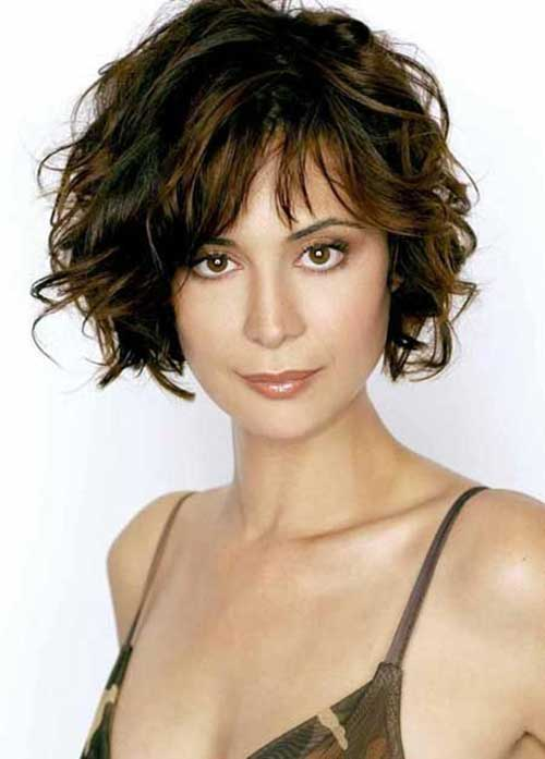 Curly Hairstyles for Short Hair-7