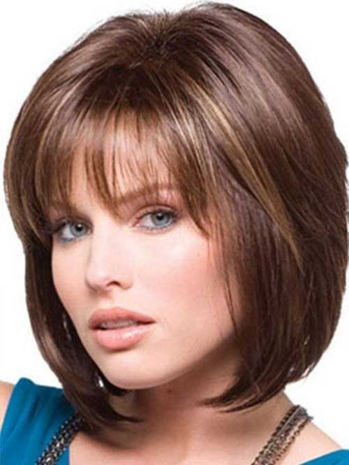 Short Hair with Straight Bangs-8