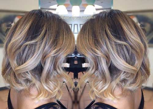 Blonde Balayage Short Hair-9