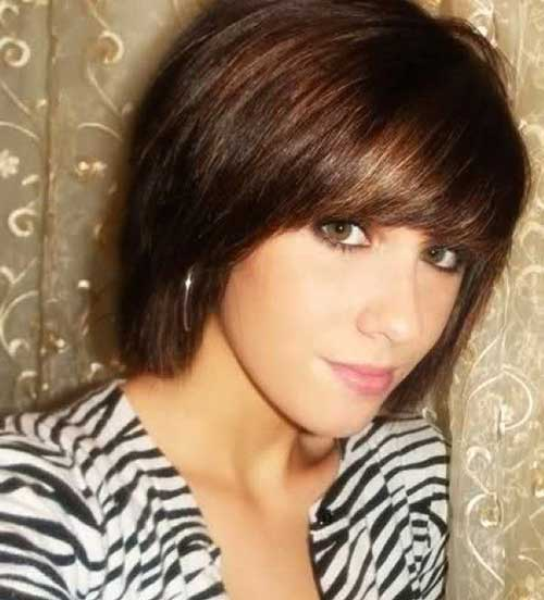 Gallery For Short Straight Hair With Bangs
