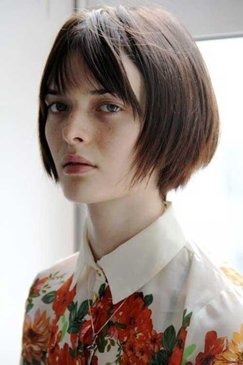 Swell 15 Short Hair With Straight Bangs Short Hairstyles Amp Haircuts 2015 Short Hairstyles Gunalazisus
