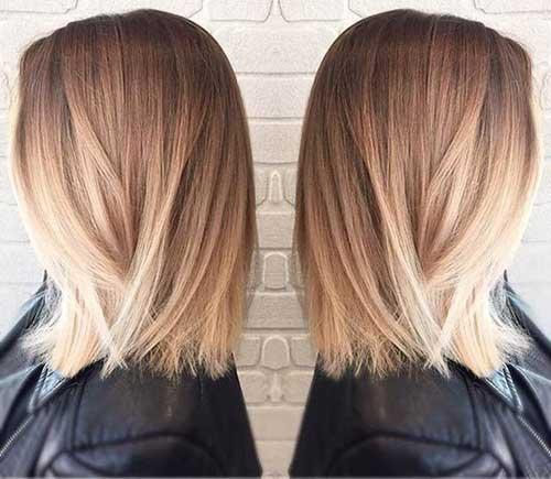 12.Ombre Color Short Hair