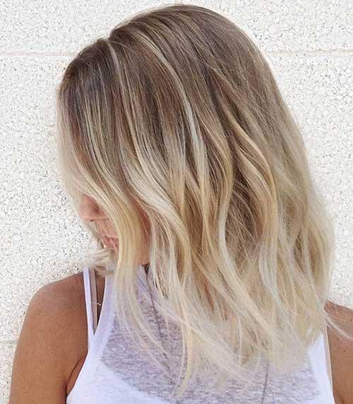 8.Ombre Color Short Hair