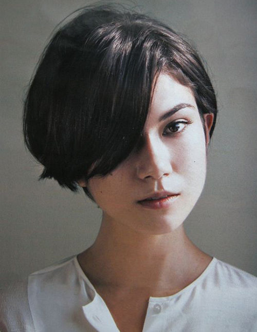 Hairstyles for Short Hair with Bangs-13