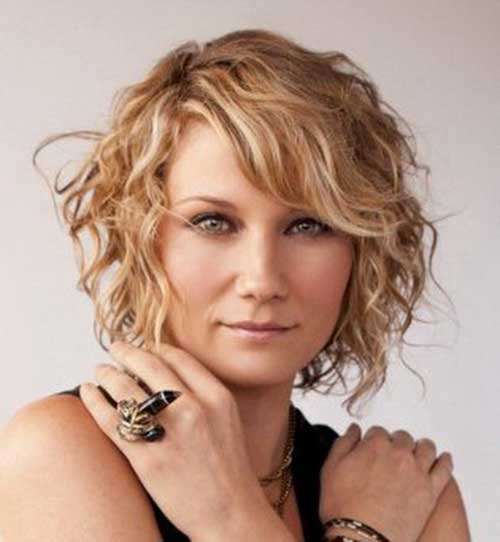 Hairstyles for Short Curly Hair-16