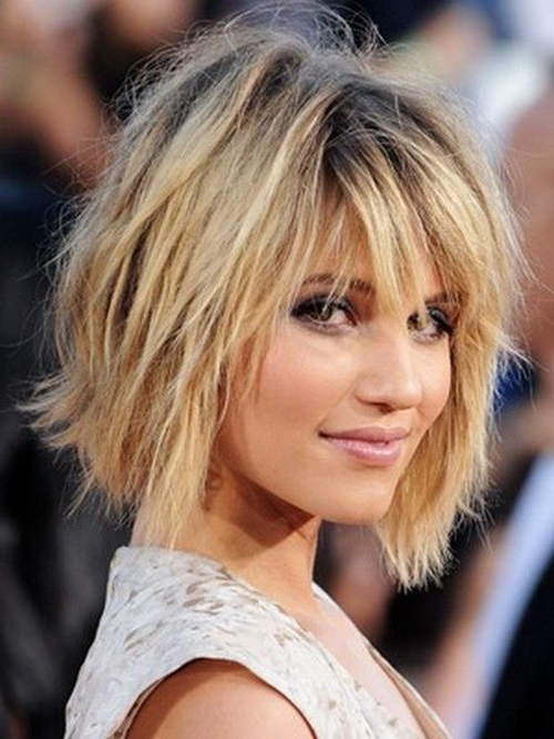 Hairstyles for Short Hair with Bangs-7
