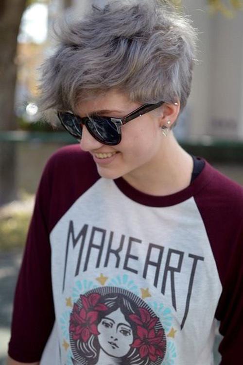 Short Grey Hair Styles-8