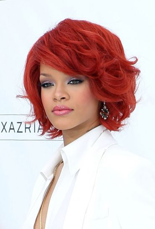 Rihanna's Red Bob Cut
