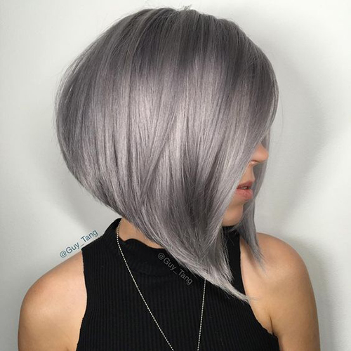 Short Hairstyles for Grey Hair 2014