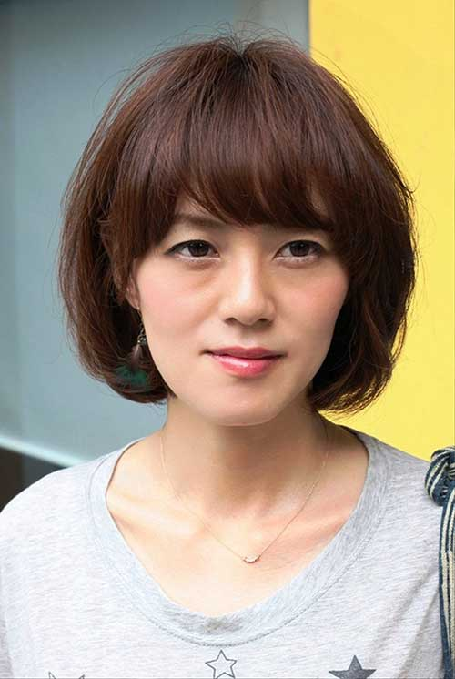 Asian Bob Cut with Bangs 2014