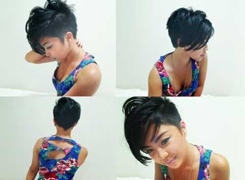Asymmetrical Short Side Hair Cut
