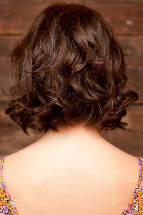 Best Thick Wavy Bob Back View