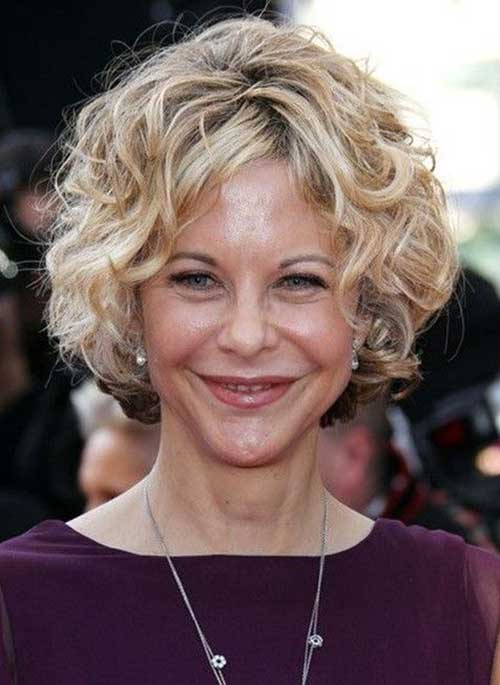 Blonde Curly Short Hairstyles