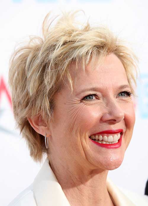 Blonde Pixie Cut for Older Women