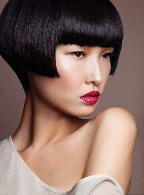 Blunt Chinese Bob Hairstyle