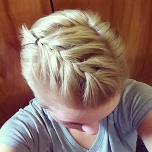 Braided Short Blonde Pretty Cut