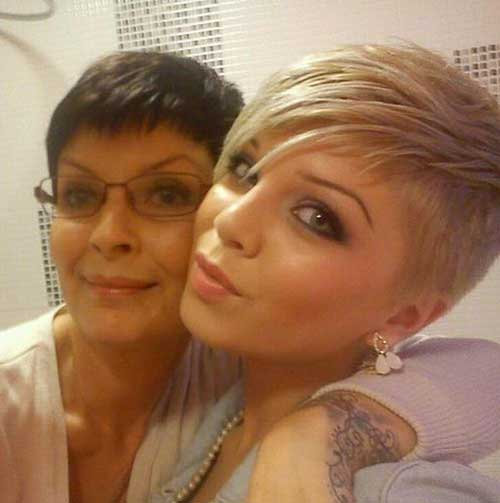 Cool Short Side Shaved Hair Cut