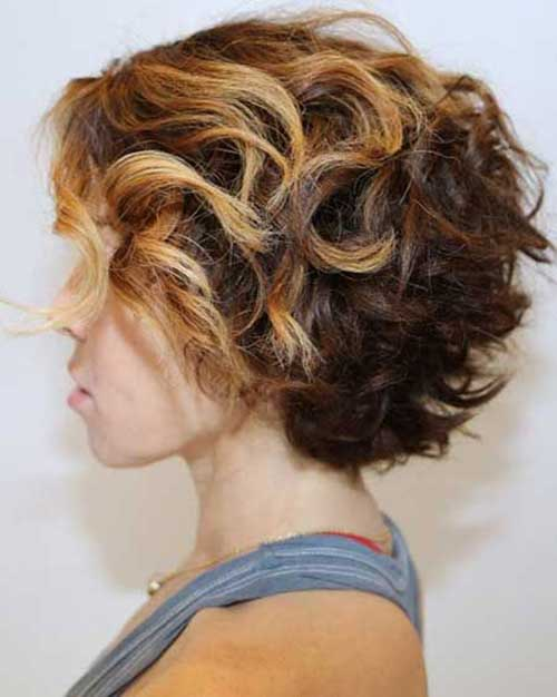 Curly Highlighted Short Hairstyles