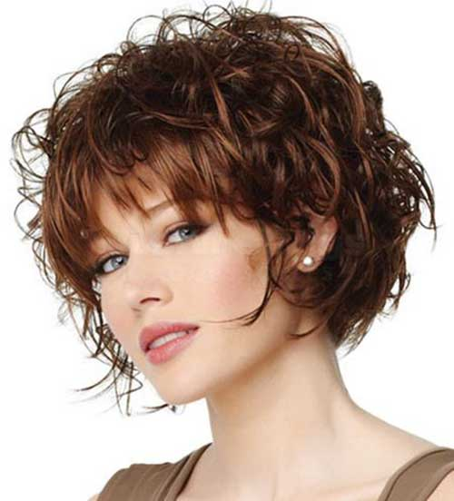 Curly Layered Short Hair 2015