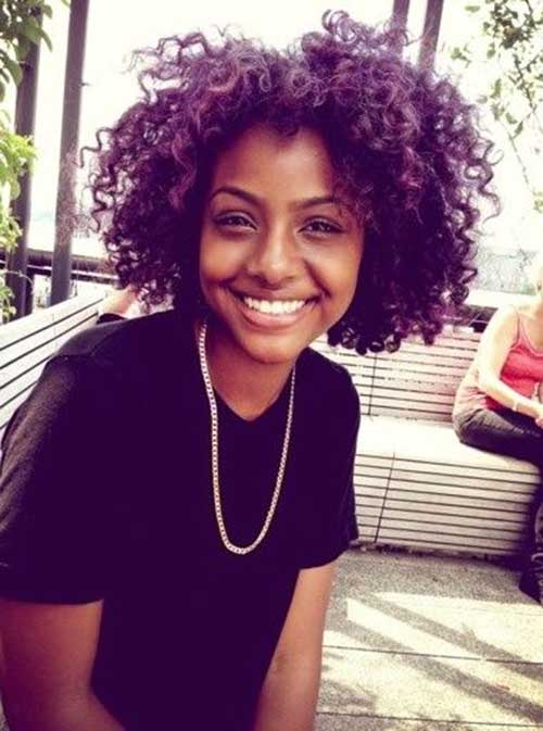 Curly-Messy-Afro-Short-Style