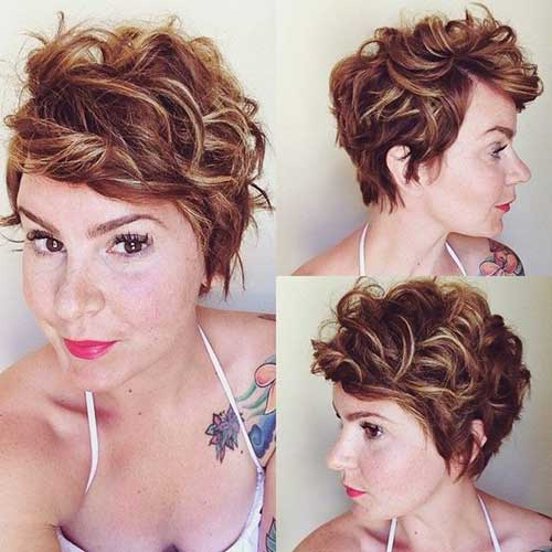 Curly Pixie Hairstyles for Women