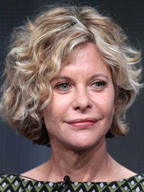 Curly Short Blonde Hairstyles
