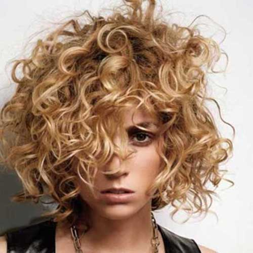 Curly Short Thick Blonde Hairstyles