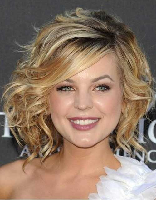 Curly Wavy Short Bob Hairstyles