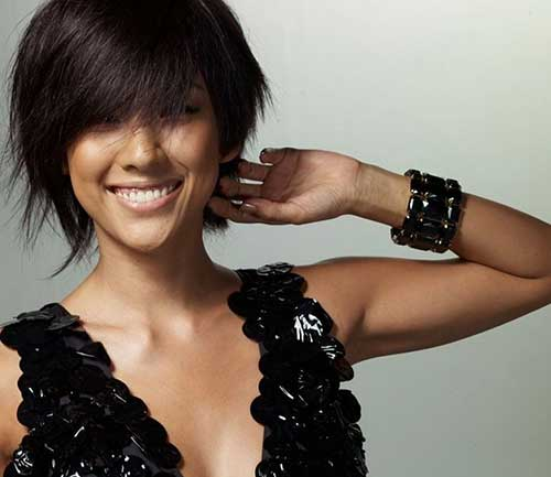 Cute Short Cut for Thick Dark Hair