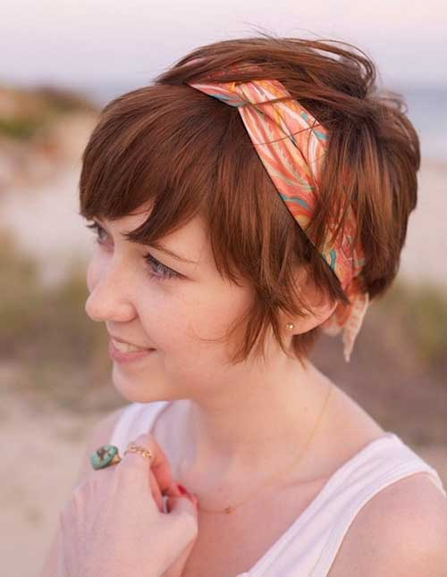 Cute Short Cuts with Headband 2014