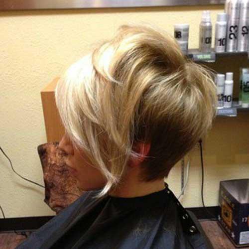 Cute Short Stacked Hair Cut