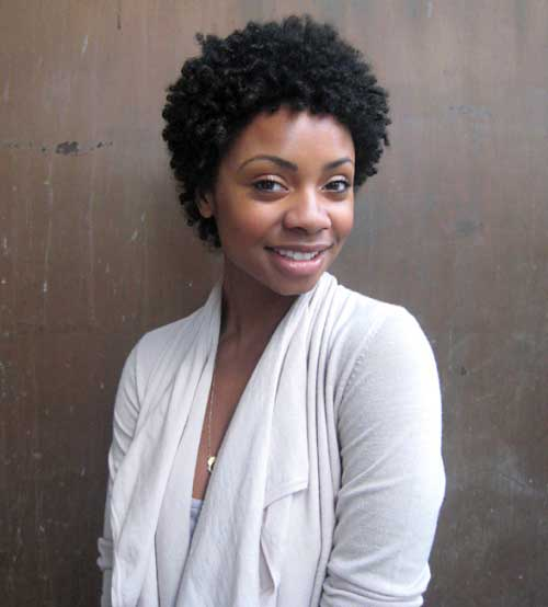 Dark Short Curly Afro Natural Hairstyles