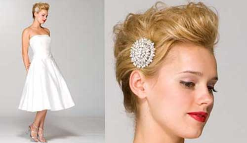 Elegant Brides Short Hairstyles