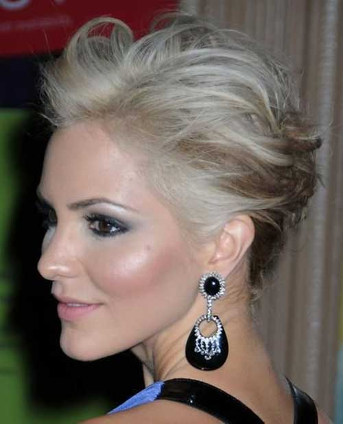 Elegant Updo Short Haircuts