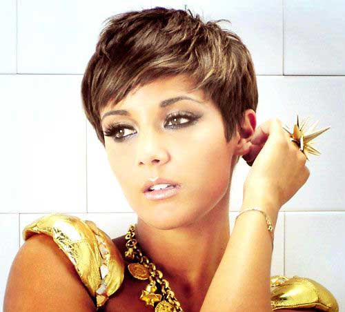 Frankie Sandford Pixie Haircuts