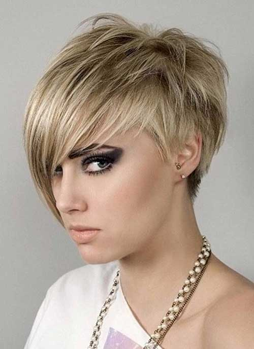 Funky Blonde Pixie Hairstyles