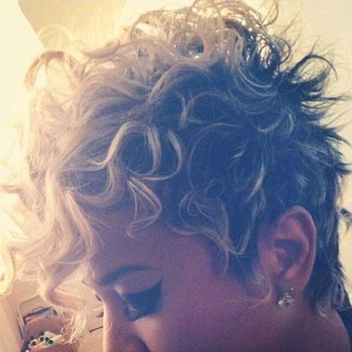 Funky Curly Pixie Hairstyles
