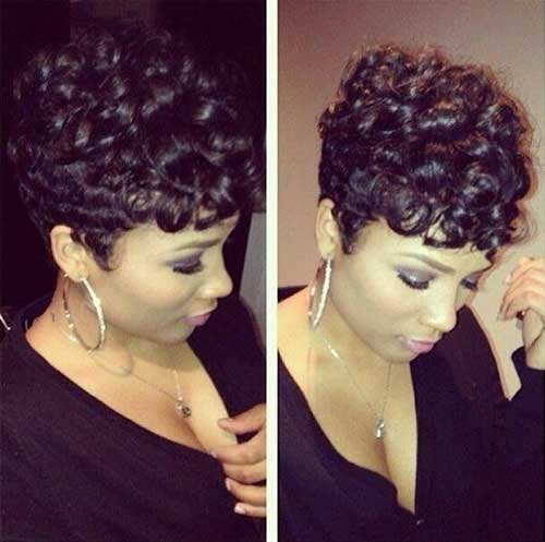 Black Hairstyles with Short Curly Hair