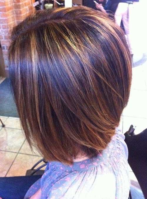 Highlighted-Short-Cut-Straight-Hair