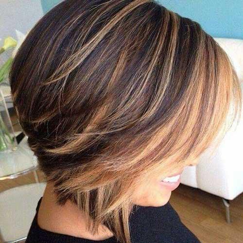 Highlighted Short Straight Hair Ideas
