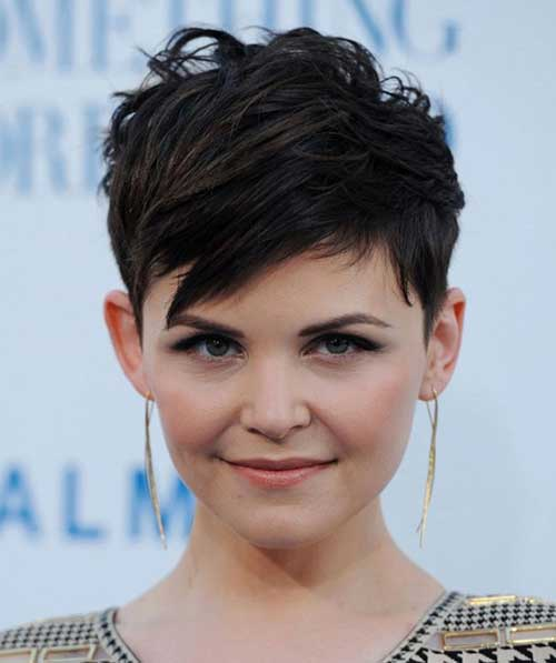 Layered Dark Pixie Cuts for Women